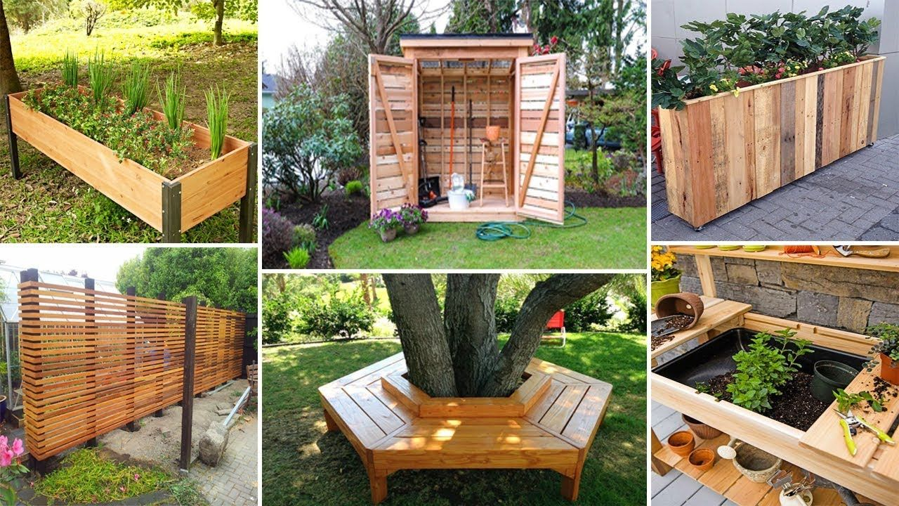100 Diy Wood Projects For Garden You Can Start Now Diy Garden Garden Crafts Diy Diy Wood Projects Cheap Landscaping Ideas Diy backyard projects youtube
