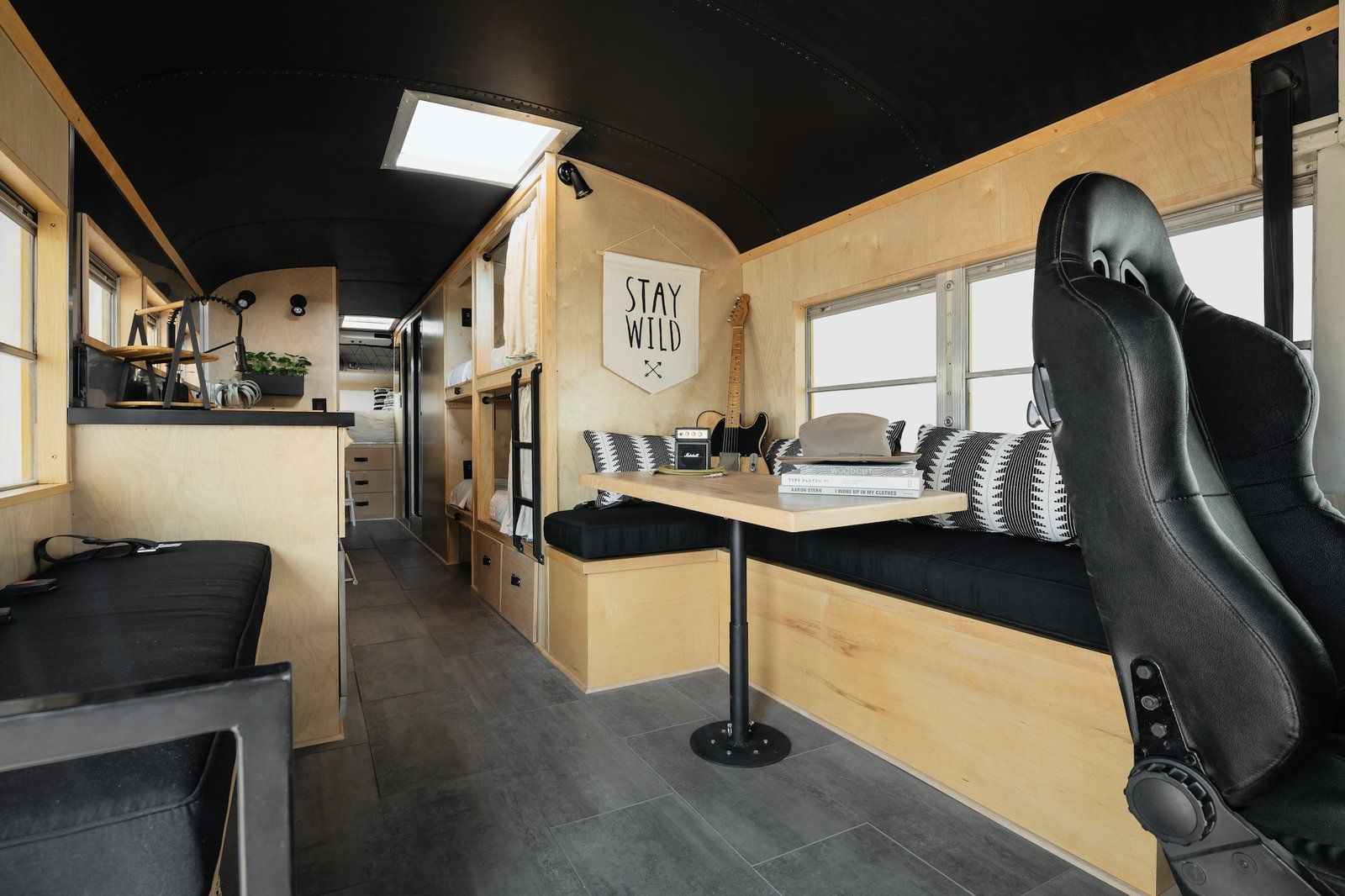 Photo 11 Of 16 In A 1980s School Bus Becomes A Tiny Home With In 2020 School Bus Tiny House Tiny House Family School Bus