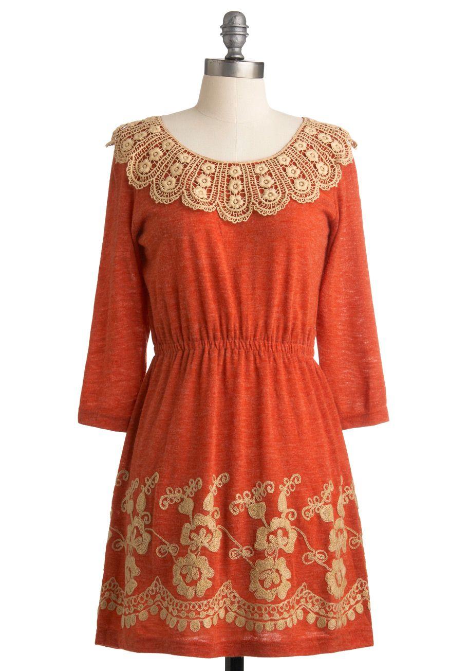 de4154308a8 Peach for the Sky Dress - Orange