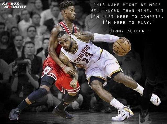 Jimmy Butler Is Not The Least Bit Intimidated About Facing Lebron James Lebron James Bulls Basketball Basketball Pictures