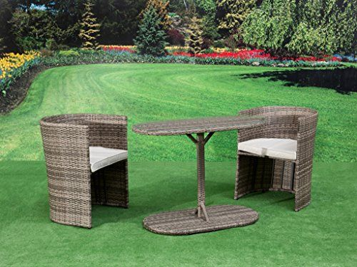 Garden Furniture Steel pagoda toulouse steel rattan hideaway garden furniture bistro set