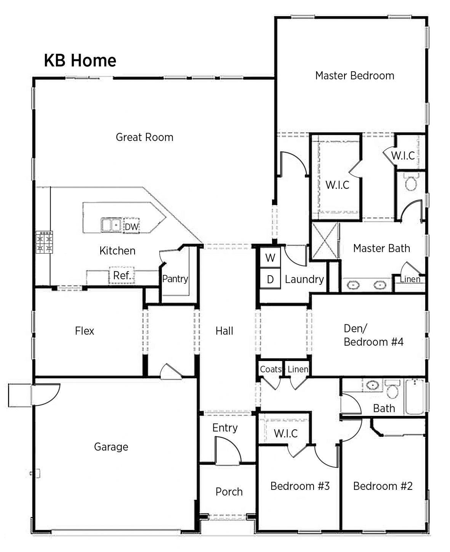 DOE Tour of Zero Floorplans: Double ZeroHouse 3.0 by KB Home ... Zero Entry Home Floor Plan on zero energy water heating system, zero lot line plans, walk-in pools design plans, inexpensive prefab home plans,