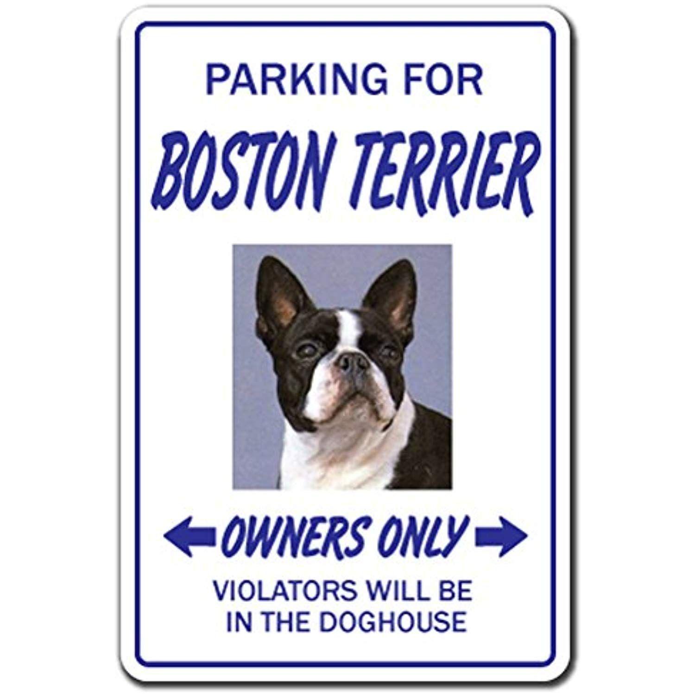 Boston terrier novelty sign indooroutdoor funny home