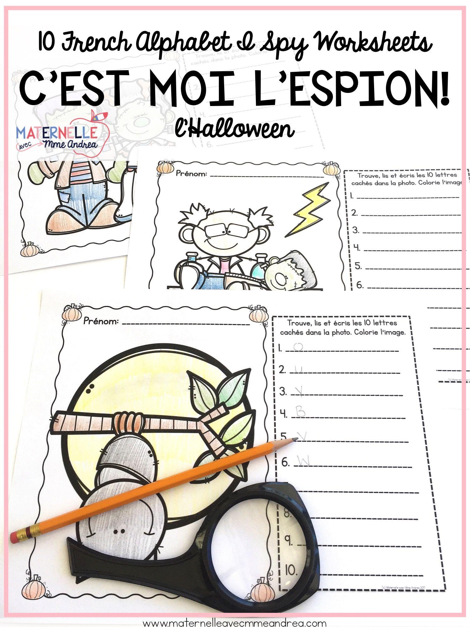 French Halloween Alphabet Reading Amp Writing Practice