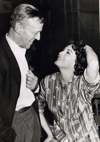 Fred Astaire and Ava Gardner on the set of On the Beach (1959)