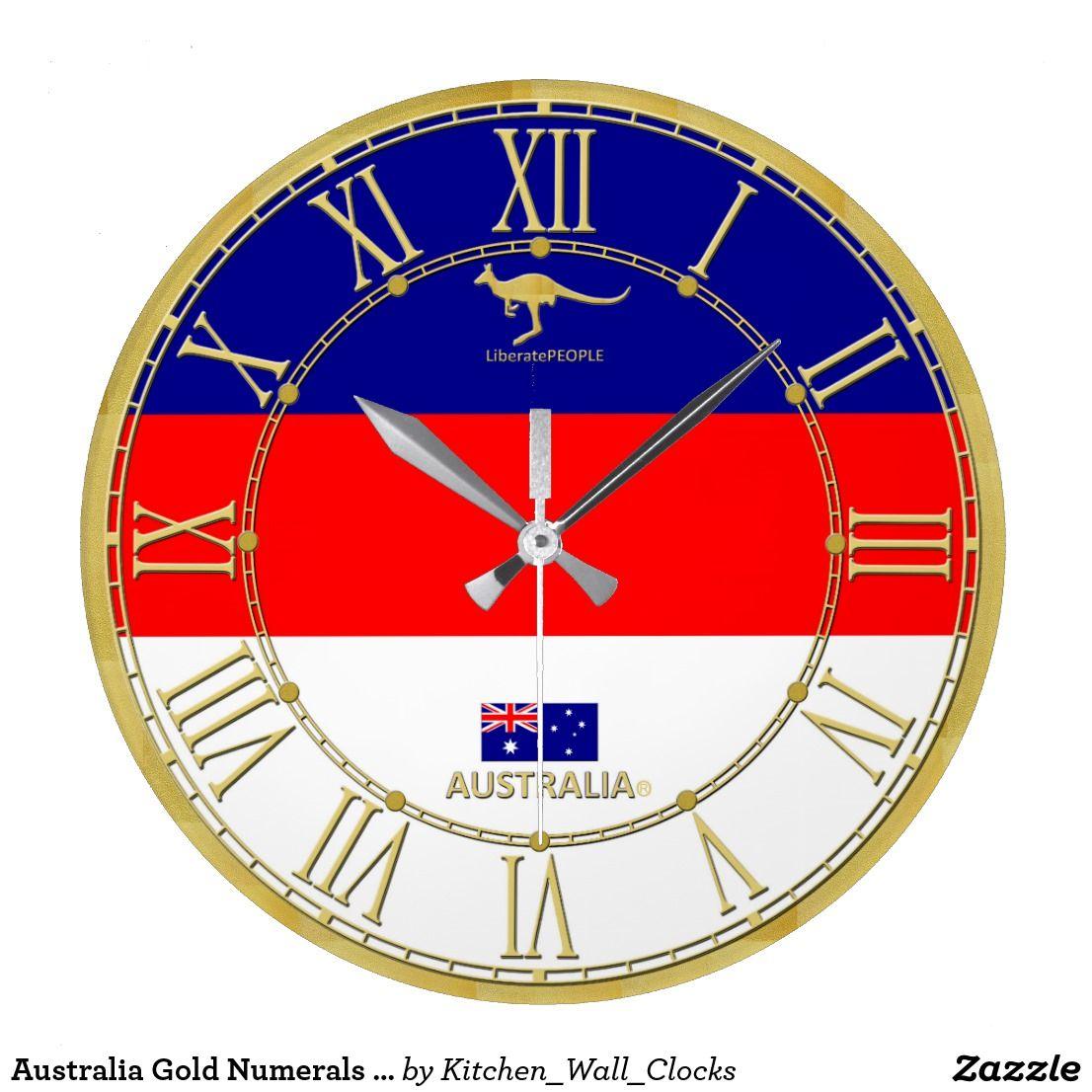 Australia gold numerals modern wall clock gift httpszazzle australia gold numerals modern wall clock gift httpszazzle amipublicfo Image collections