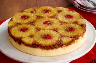 Pineapple Upside-Down Cheesecake Recipe - Kraft Recipes ~ Hubby loves Pineapple Upside Cake & Cheesecake. I see this in his future.
