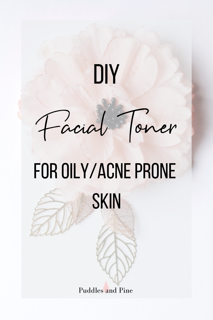 Check out how to make this DIY all natural facial toner with essential oils! This homemade toner will help promote beautiful clear skin for those with oily or acne prone skin!