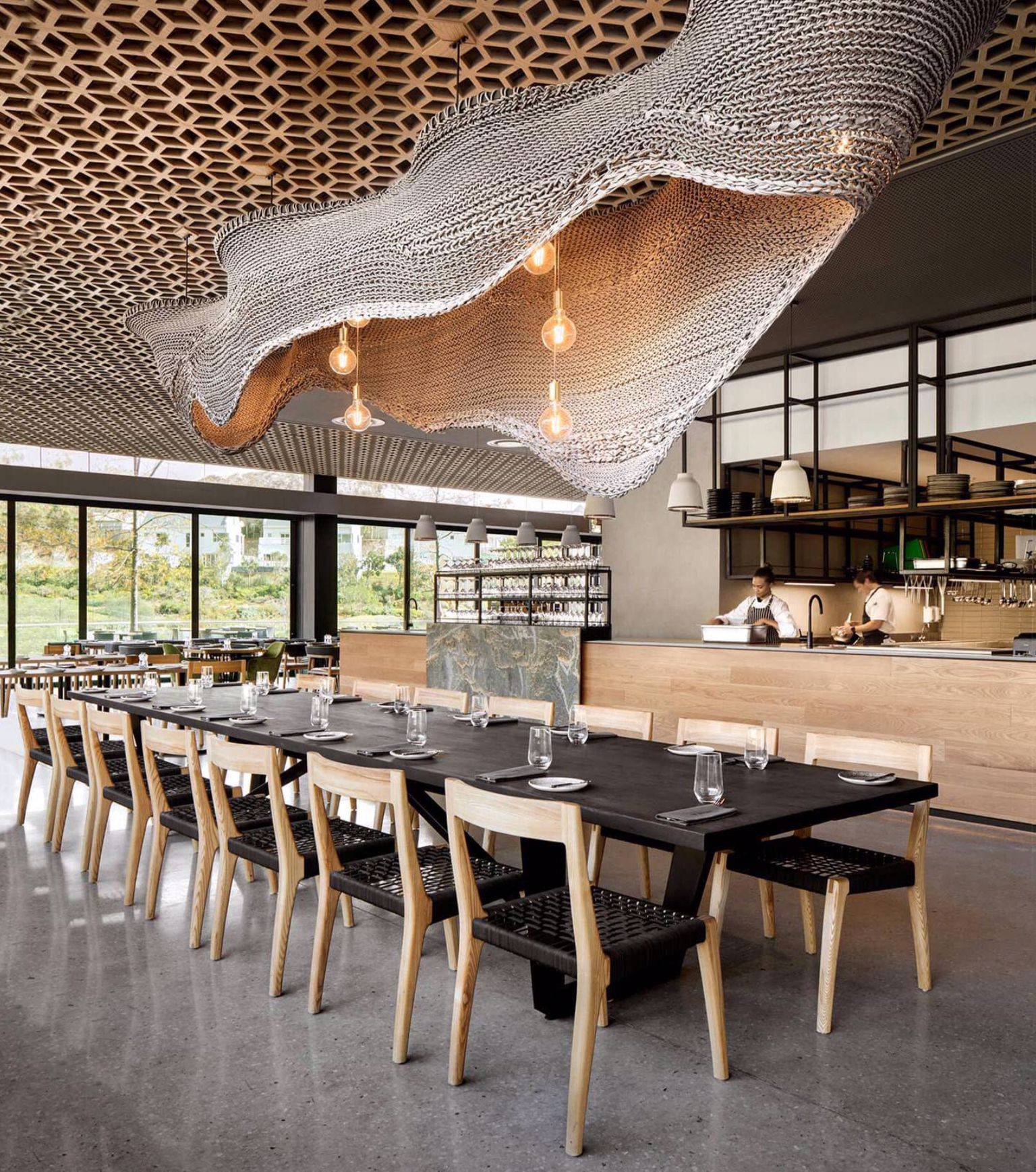 This Whole Thing And The Woven Fixture Leaves Me Speechless Affordable Interior Design Restaurant Design Restaurant