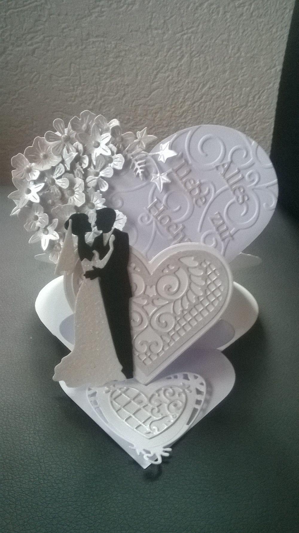 Hochzeitskarten Gluckwunschkarte Zur Hochzeit Herz Aufstellerkarte