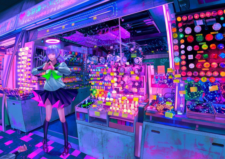 Anime Girl Wallpaper Neon - Anime ...