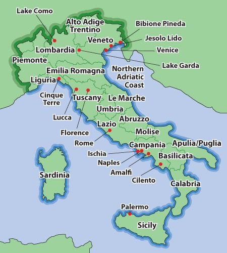 Regions Of Northern Italy Italy Villas And Holiday
