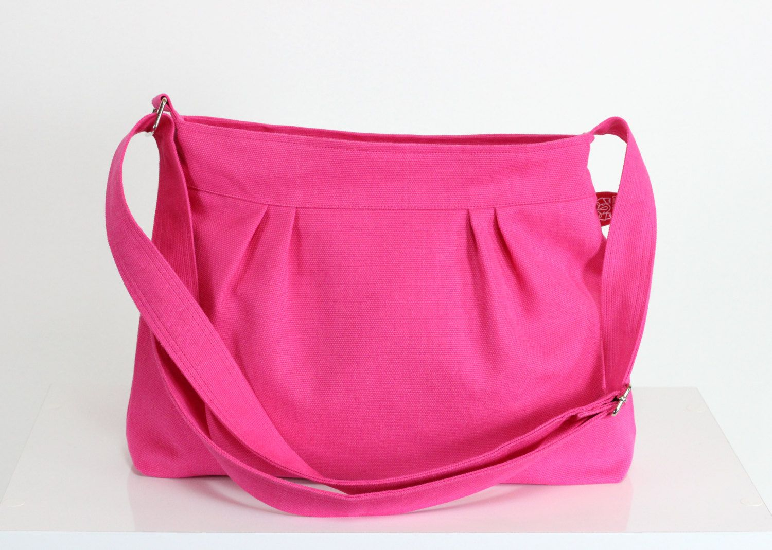 Pink Purse Small Sweet Washable Pleated Canvas Bag Different Colors Available Shoulder Zipper Gift For Her
