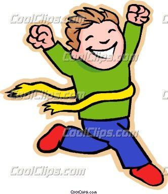 children at play clip art children at play kids boy winning race rh pinterest nz