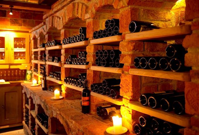 Rustic Old World Wine Cellars With Brick And Stone Aches Wine