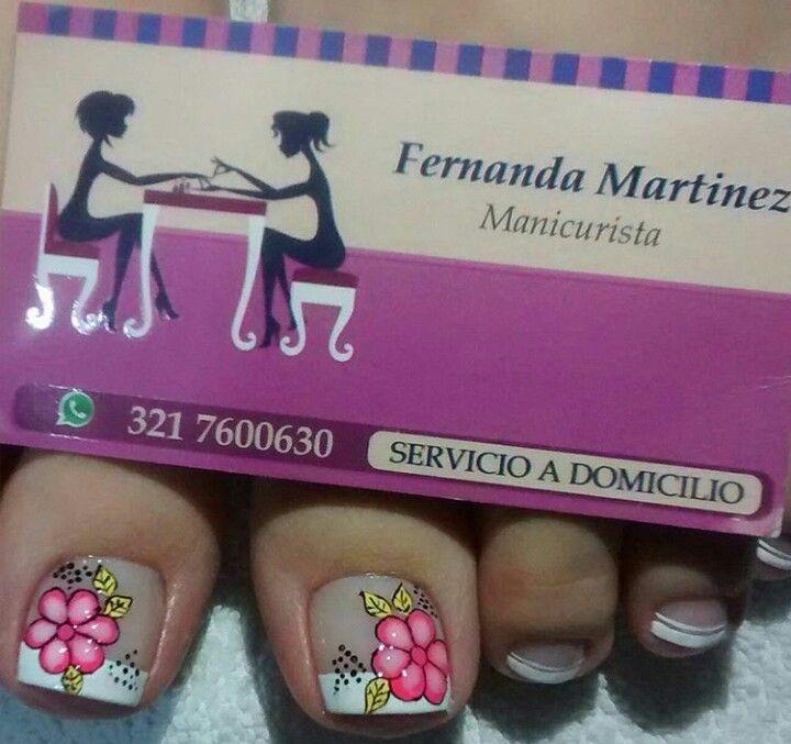 Decoración de pies | nails art | Pinterest | Diseños de uñas ...