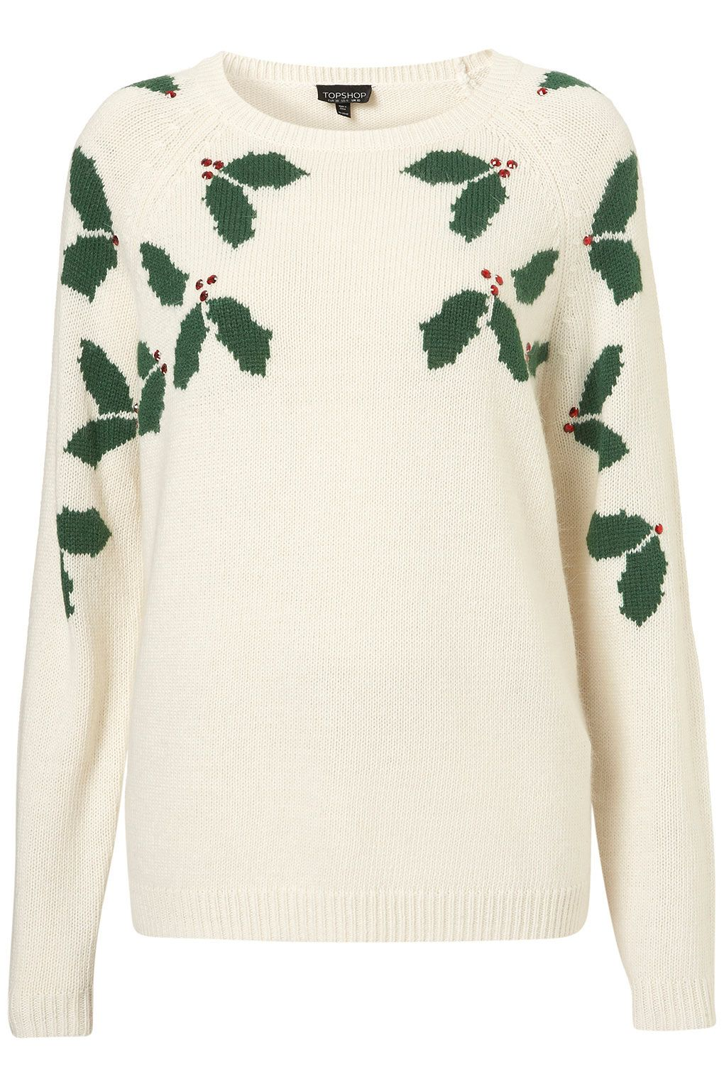 7ef34aad3fc3 Topshop - Knitted Xmas Holly Jumper | Clothes | Christmas jumpers ...