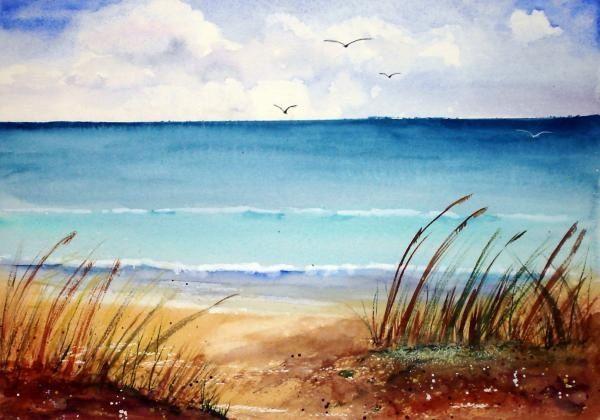 peaceful paintings | Peaceful Beach Painting | craftttttttttt ...
