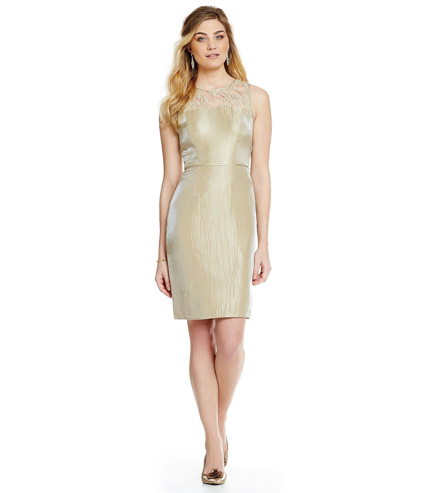 Adrianna papell Elbow Length Bell Sleeve A-line Dress With