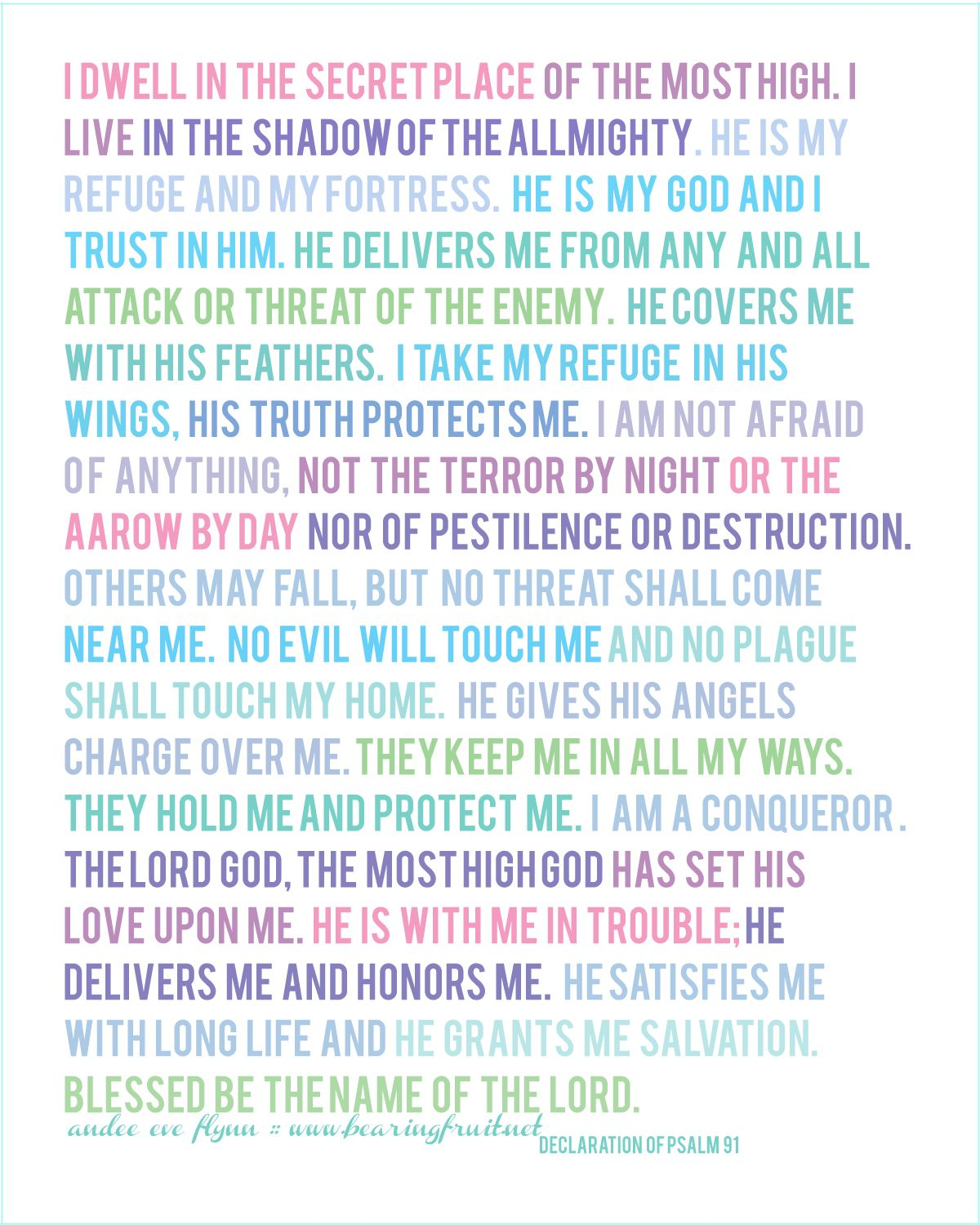 photograph relating to Psalm 91 Printable referred to as Psalm 91 Reminders Psalm 91, Scripture estimates, Psalms