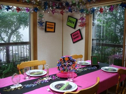 High School Graduation Table Decorations Seasons Special Days Party