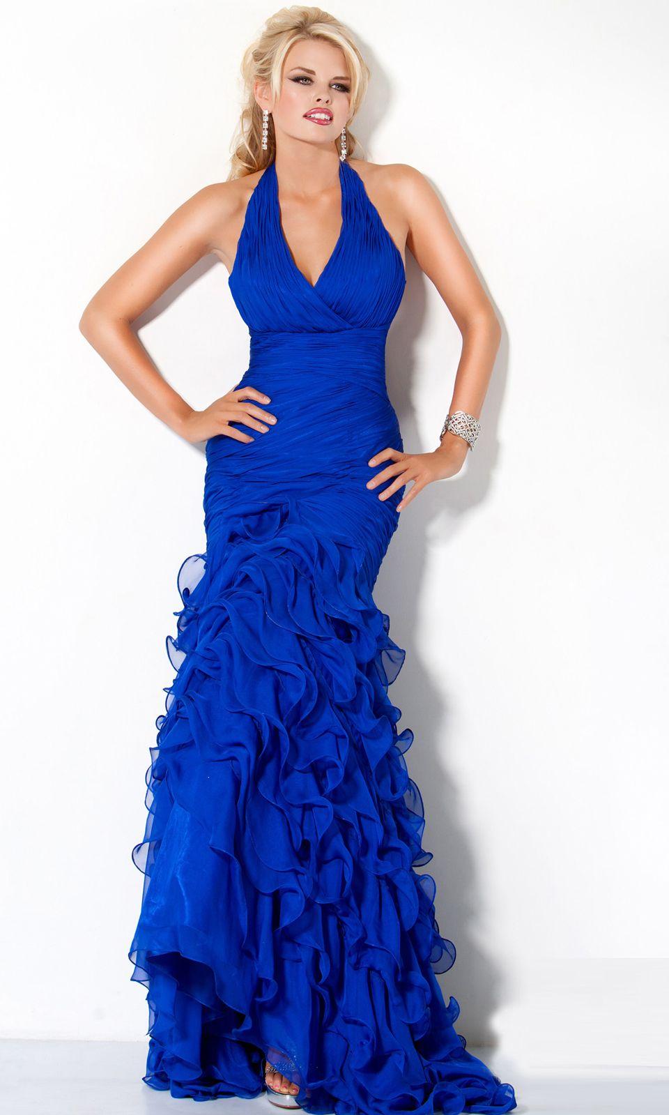 Flattering vneckline halter long prom gown dreams dresses