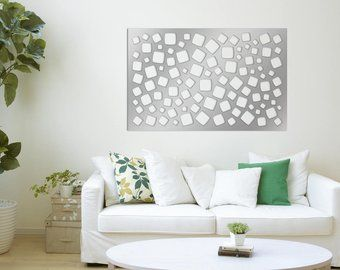 Laser Cut Metal Decorative Wall Art Panel Sculpture for Home, Office, Indoor or Outdoor Use (Fiber)