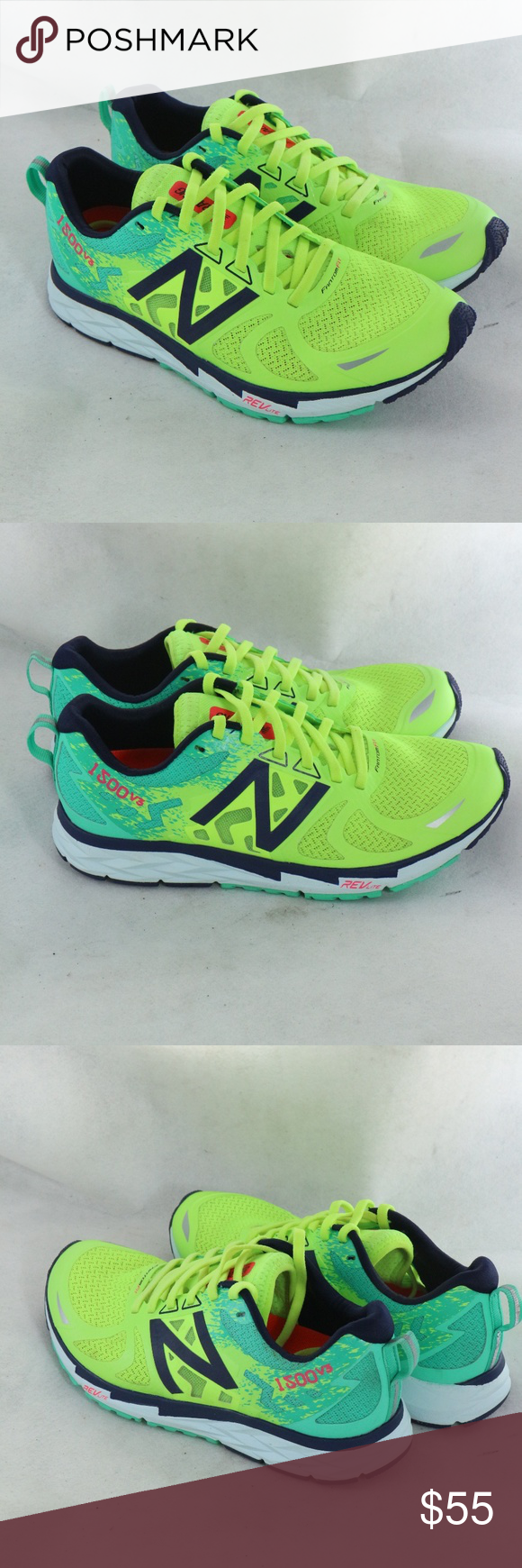 NEW BALANCE W1500V3 Lime Glow/Jade Running Shoes | New balance ...