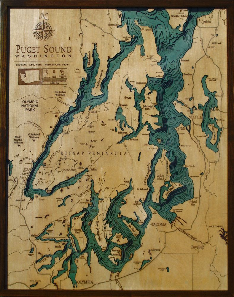 Maps on the web photo wood map puget sound puget