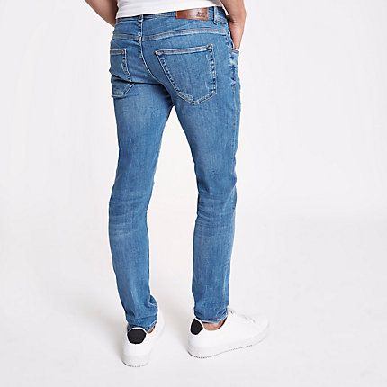 9b99c5c5dcc9b2 Mid blue Eddy skinny ripped jeans in 2019 | Products | Ripped skinny ...