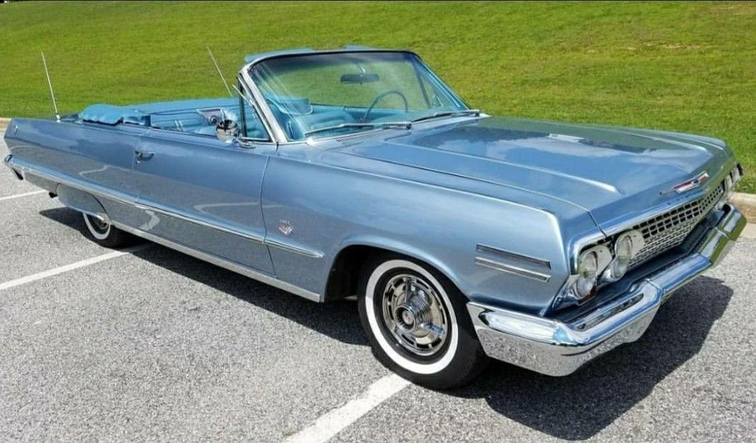 1963 Chevrolet Impala Convertible Chevroletchevelleclassiccars With Images Classic Cars Chevy Chevrolet Impala Classic Cars