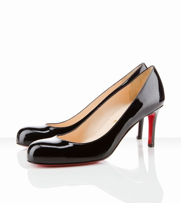 Christian Louboutin Simple Pump 70mm Black Patent Leather