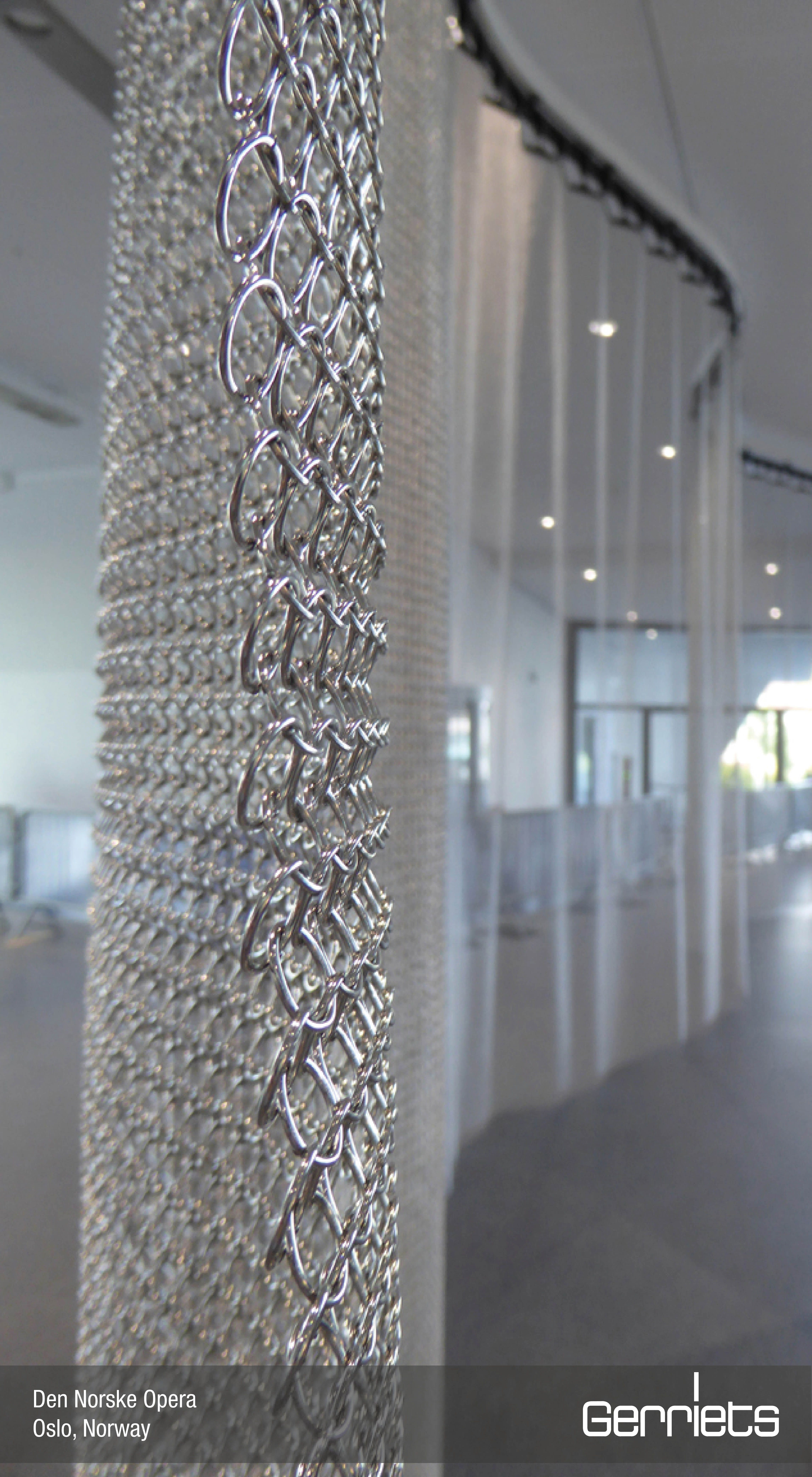 Partition Curtains Made Of G Mesh 12 0 Ring Mesh In 2020 Metal