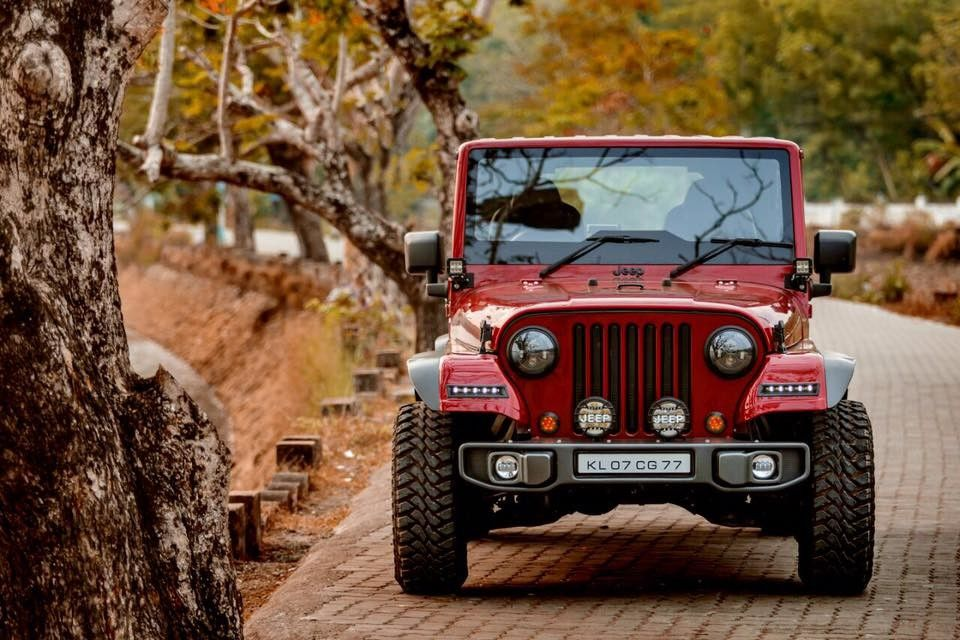 Mahindra Thar Crdi 4x4 Modified Into Jeep Studio Background Images Dslr Background Images Background Images Hd