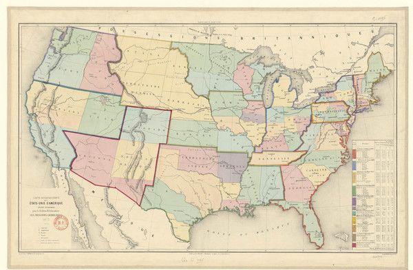 Carte ecclesiastique USA 1877
