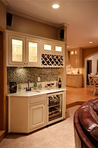 Built In Buffet Wet Bar Novare Renovation Design