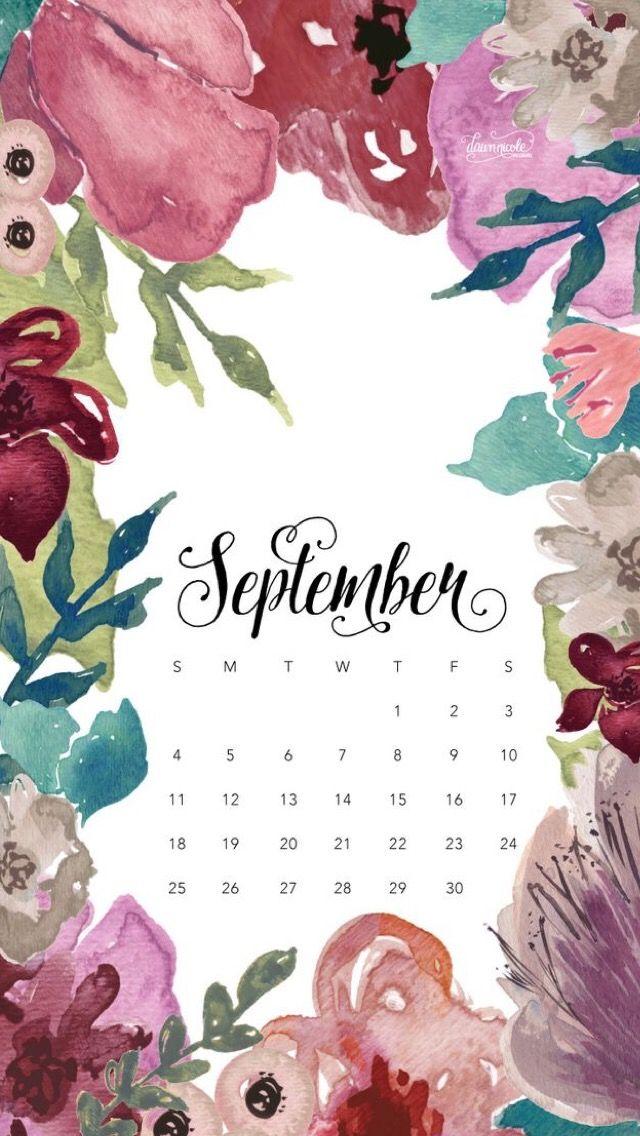 iPhone wallpaper calendar September 2016 Обои iPhone wallpapers