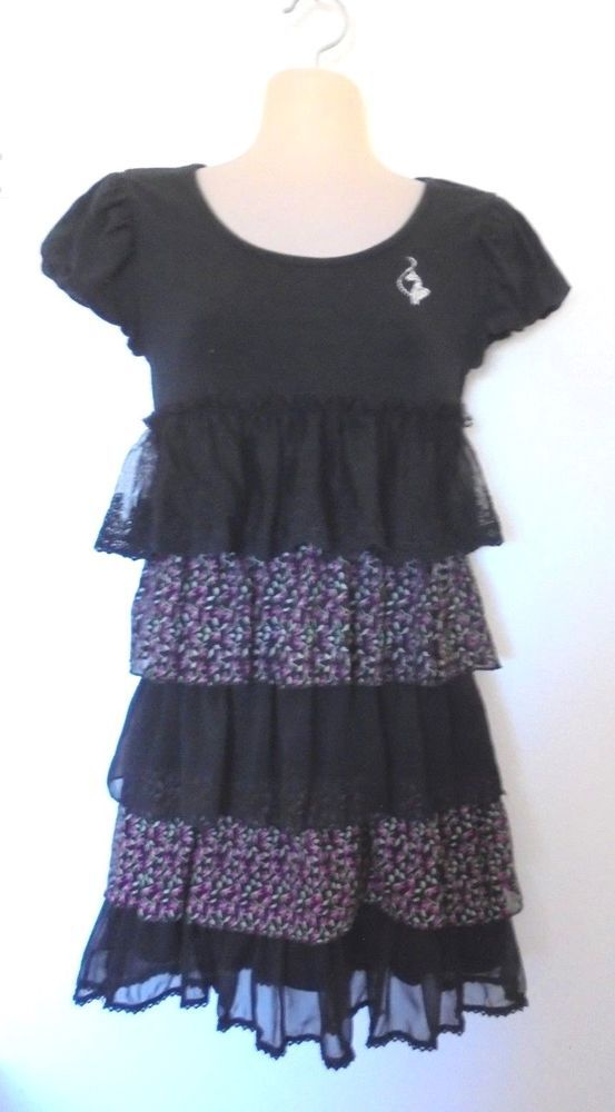 Baby Phat Clothes Awesome Baby Phat LaceTulle Floral Tiered Dress WShort Sleeves