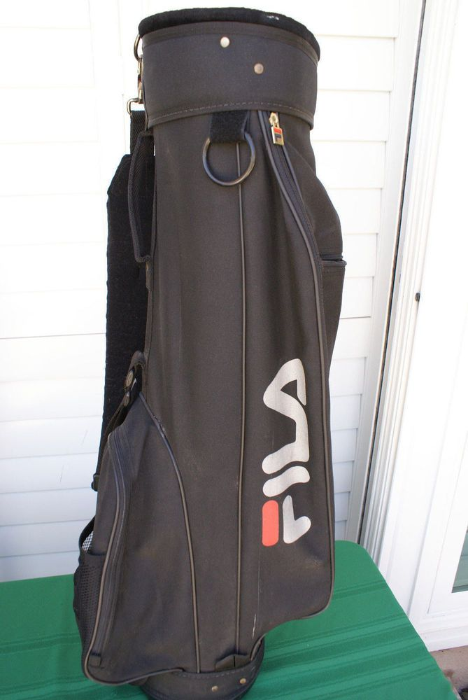Fila Light Weight Black Walking Carry Bag Preowned