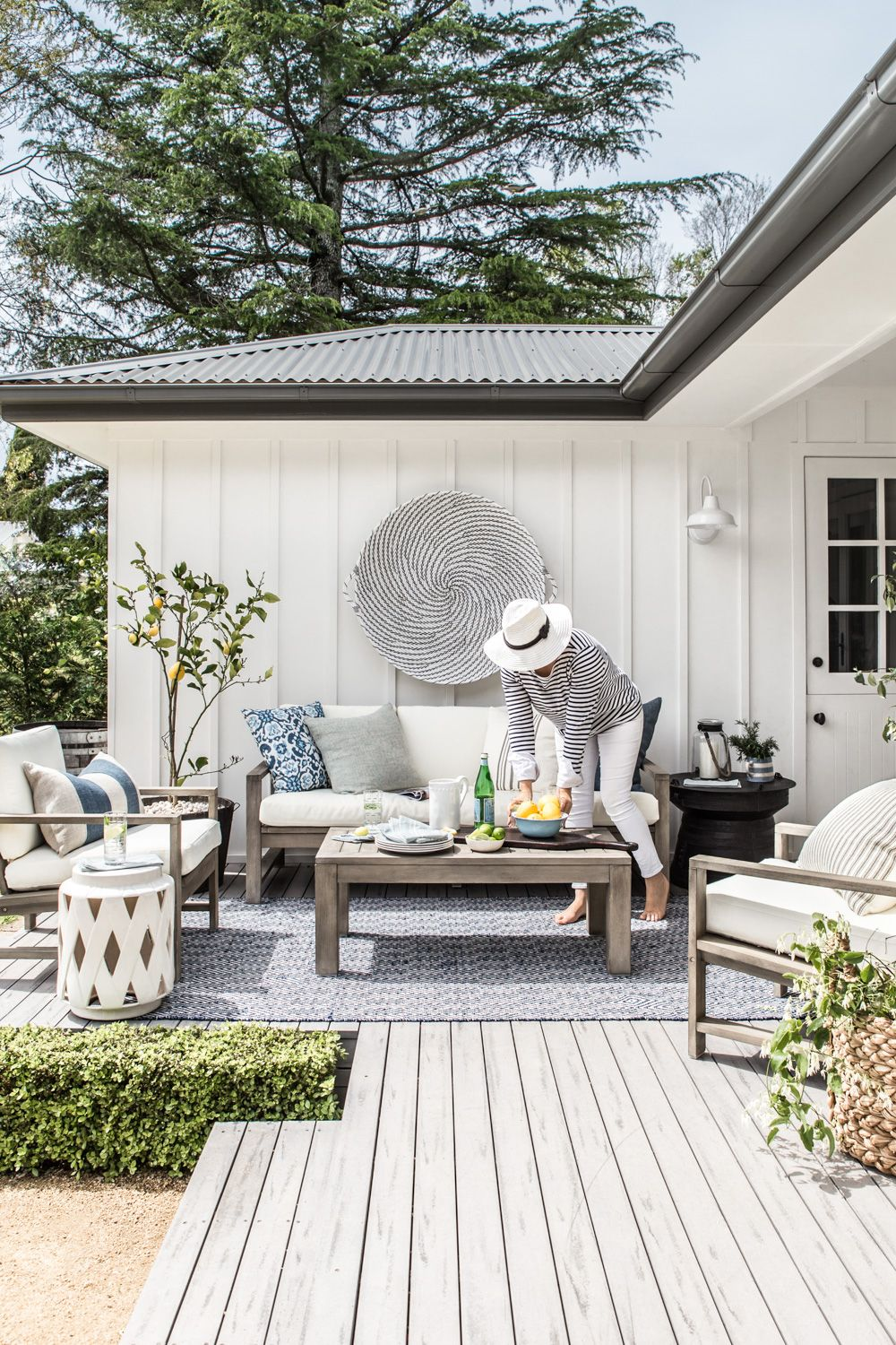 Our outdoor makeover with Pottery Barn Outdoor rooms
