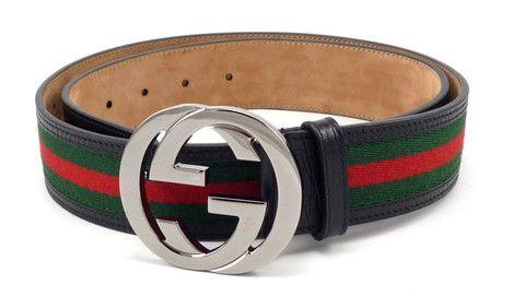 bbd6ca381c5 Gucci Mens Belt Size 38 95 Interlocking G Buckle Web Canvas Strap 114984  Green Red Blk  distinctivedeals  mensfashion