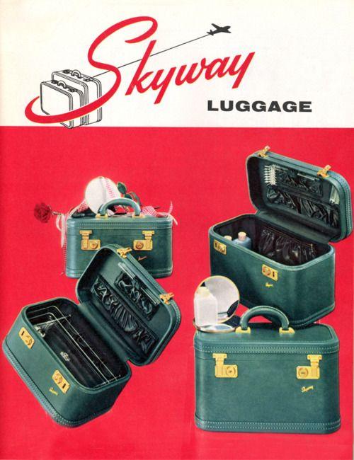 39a5b8dd4 Skyway Luggage ad, 1954 #vintage #luggage #suitcase | vintage ads ...