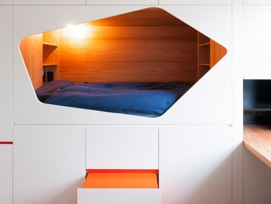 This Colorful Belgian Apartment Has Beds Built Right Into The Walls!