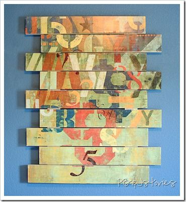 Graffiti wall art, mod podge. Fun idea...any poster can be used for ...
