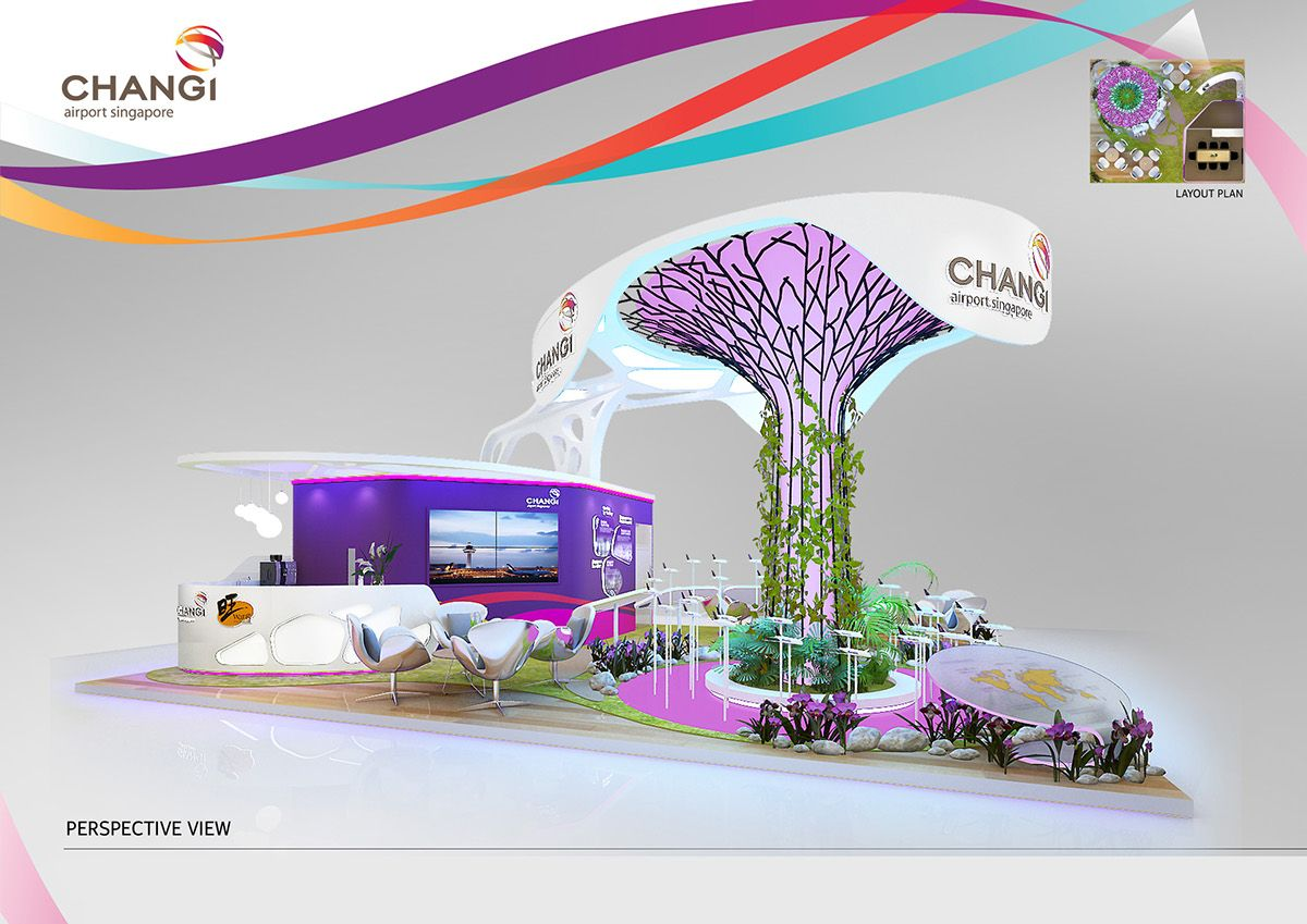 Exhibition Booth Design Singapore : Changi airport on behance dự án cần thử pinterest