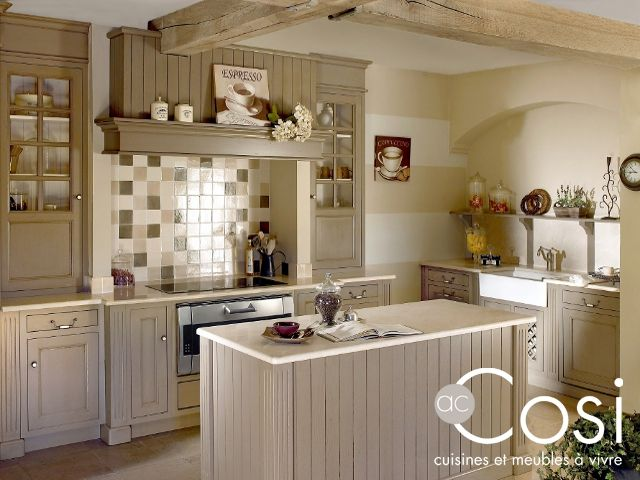 Cuisine cosi cottage bleu lavande cuisine pinterest - Cuisine style flamand ...