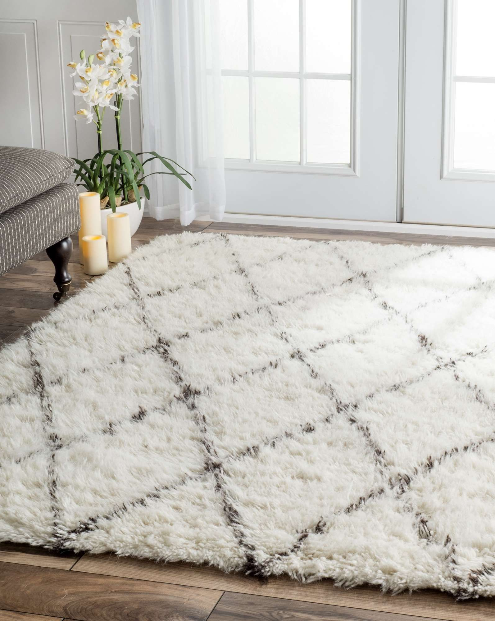 Bring home the very plush and ultra soft handmade shag rug for Small rug for bedroom