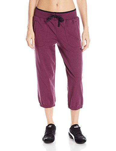 PUMA Womens Sweat Capri 2 Italian Plum XSmall ** Continue to the ...