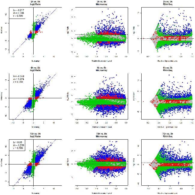 Comparison Of Rna Seq And Microarray In Transcriptome Profiling Data Visualization Research And Development Experiments