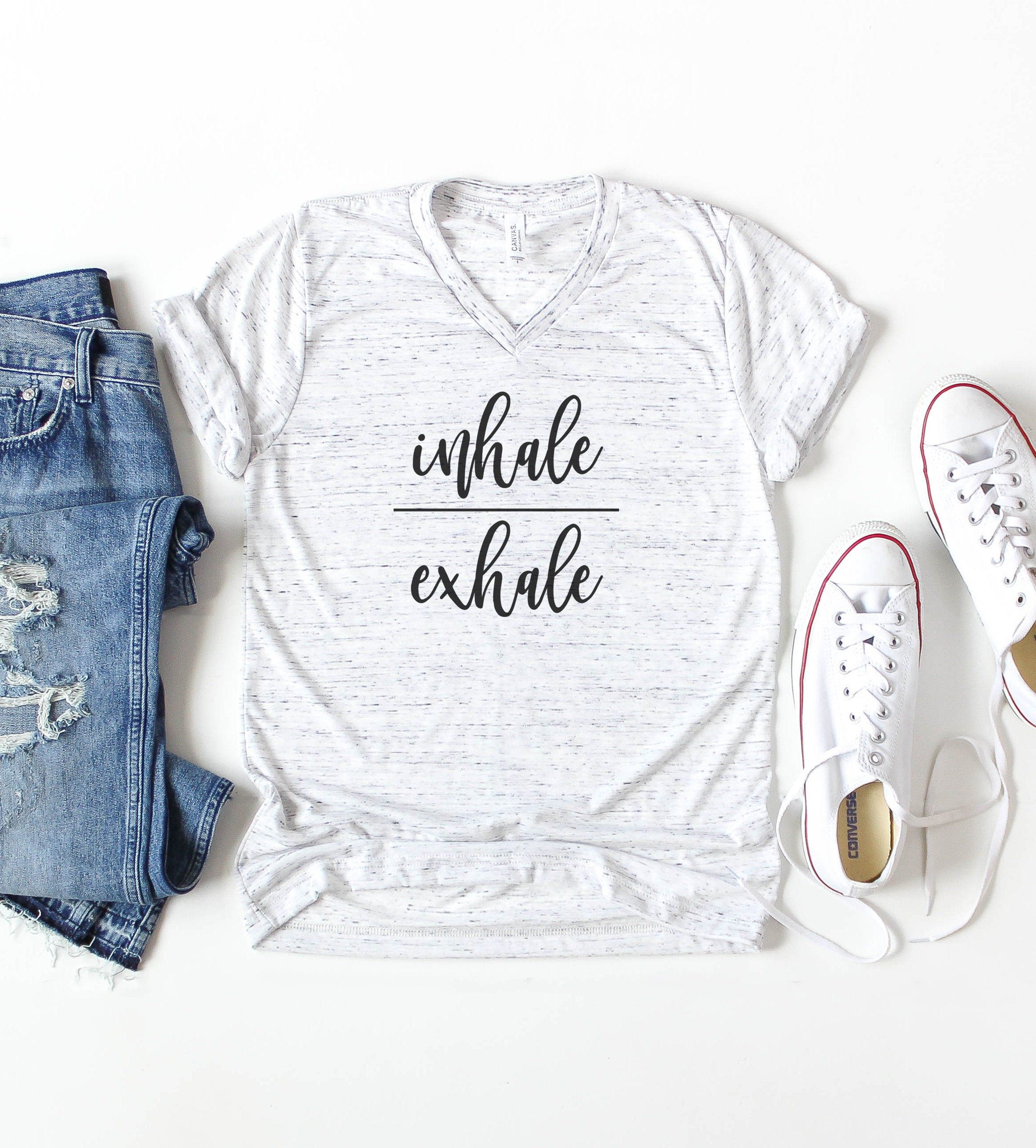 Inhale Exhale Shirt, Inhale Exhale t shirt, Yoga Shirt #inhaleexhale
